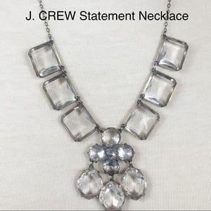 J. Crew Stunning Statement Drop Crystals Necklace